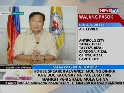 House Speaker Alvarez, muling binira ang BOC kaugnay ng paglusot ng mahigit P6-B shabu mula China