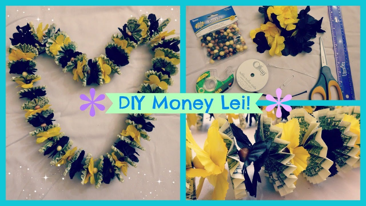 Diy money lei youtube izmirmasajfo