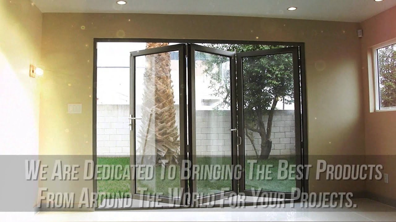 Aluminum Bifold Doors Folding Glass Patio Doors Youtube