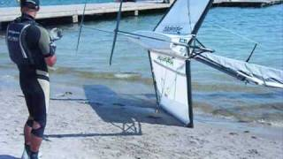 Bladerider Foiling Moth Launch (video)