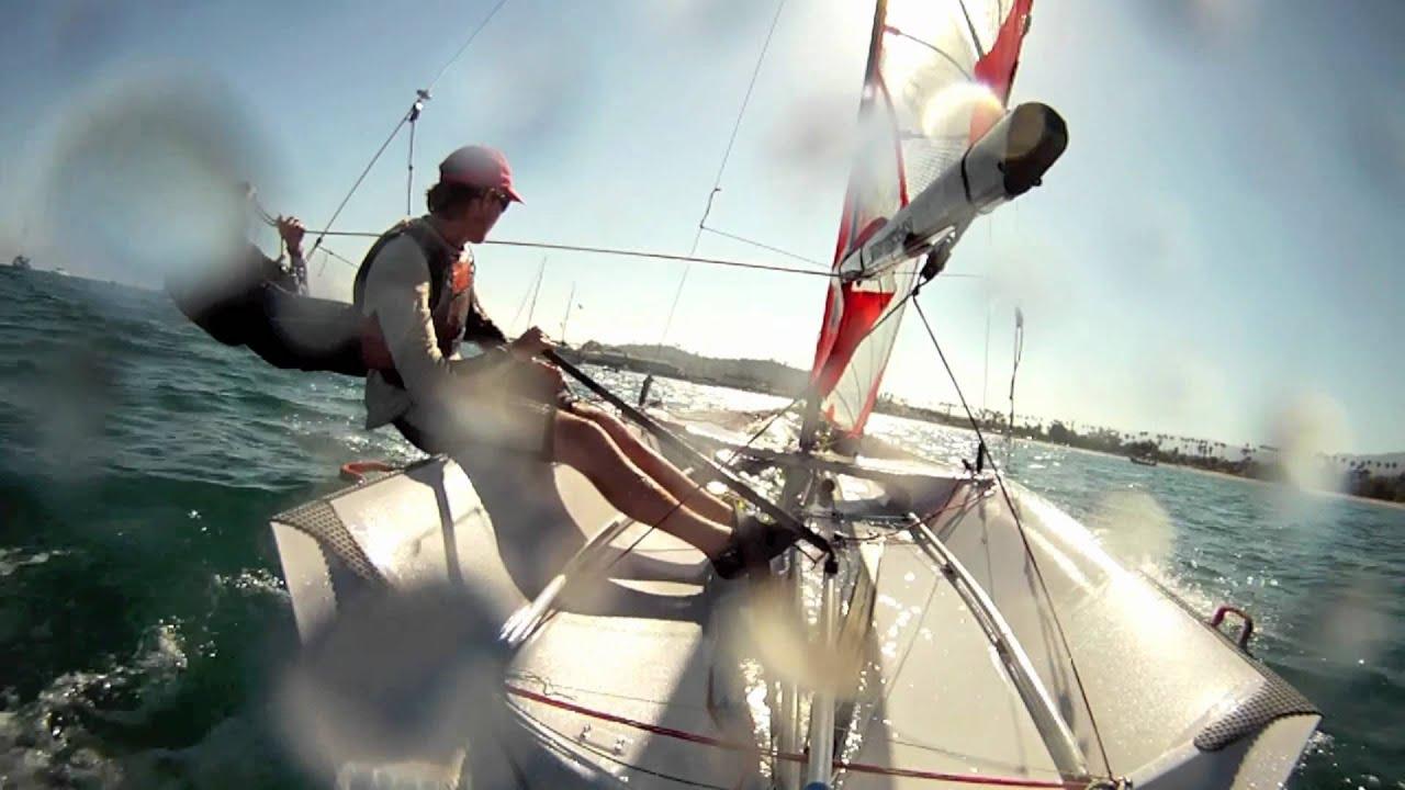 Oure Sejl 29er Sailing GoPro HD - YouTube