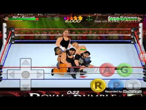 Wrestling Revolution 2D.[10 man Royal Rumble]