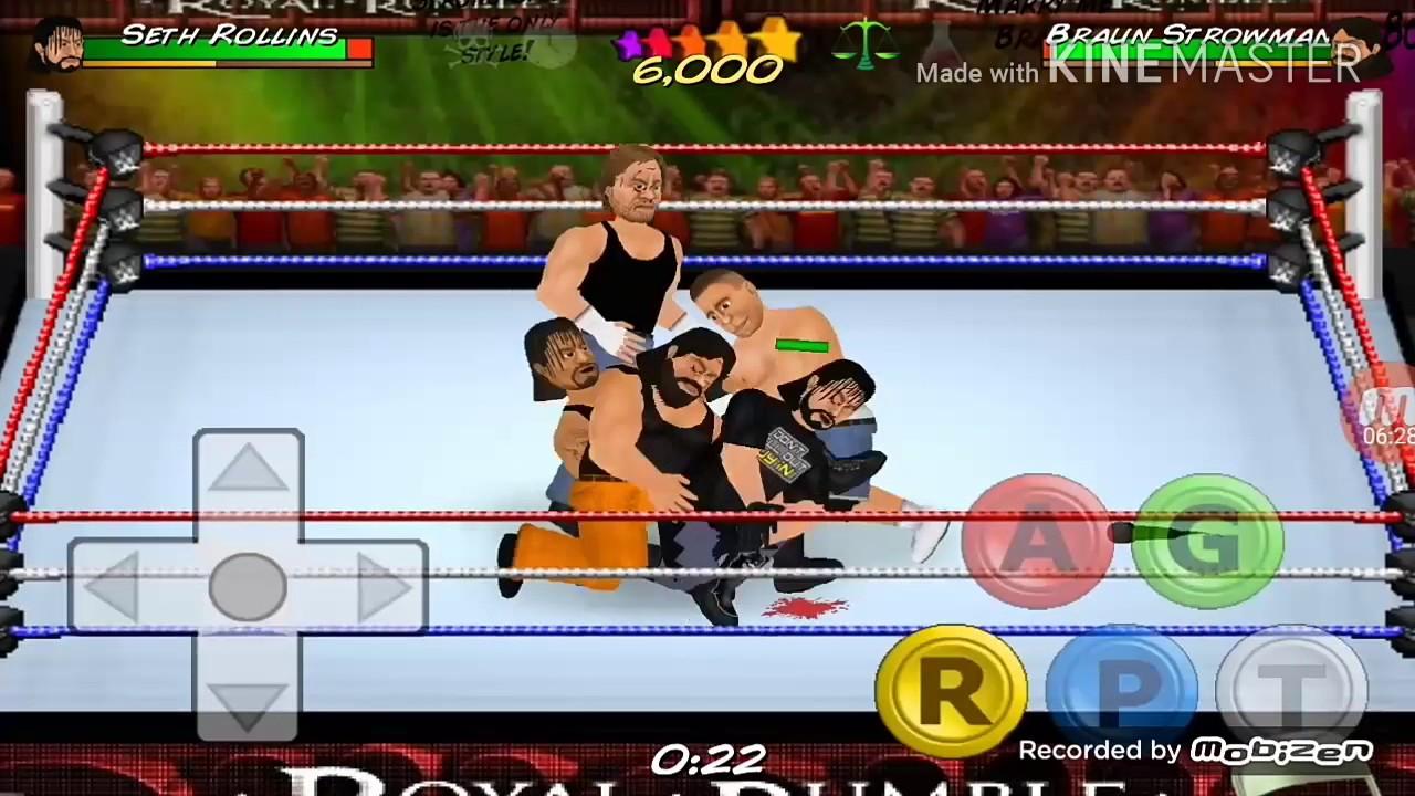 Wrestling Revolution 2D [10 man Royal Rumble]