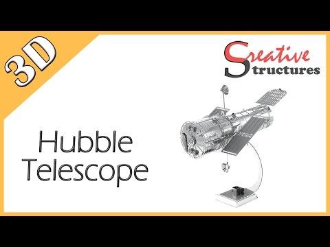 3D metal model & puzzle - Hubble Telescope (Aviation)