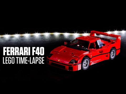 Lego Ferrari F40 built a brick at a time on time-lapse video
