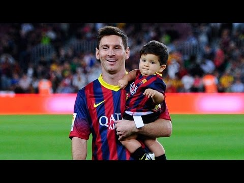 Messi i jego syn Thiago