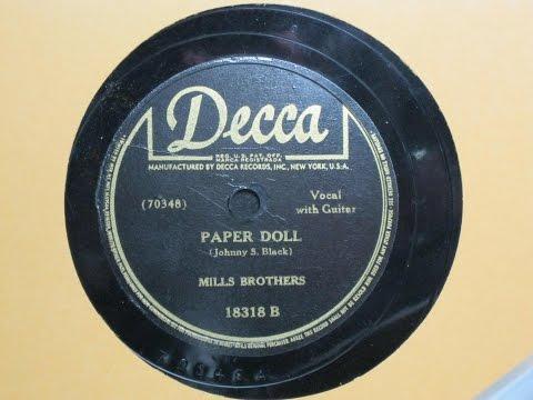 Paper Doll - Mills Brothers - Decca Records 18318 B