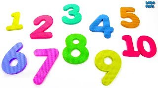 Learn to Count Numbers 1 to 10 for Children with Puzzles|123 Toys Kids|Learn Geometric Shapes