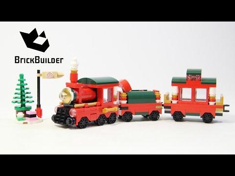 Lego Seasonal 40138 Christmas Train - Lego Speed Build - YouTube