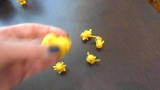 Покемоны игрушки- набор Пикачу, пластик 4,5 см, обзор, купить фигурки статуэтки пикачу в Украине
