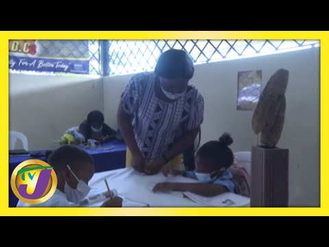 Reading Programme & Online Learning at Linstead CDC in Jamaica | TVJ News