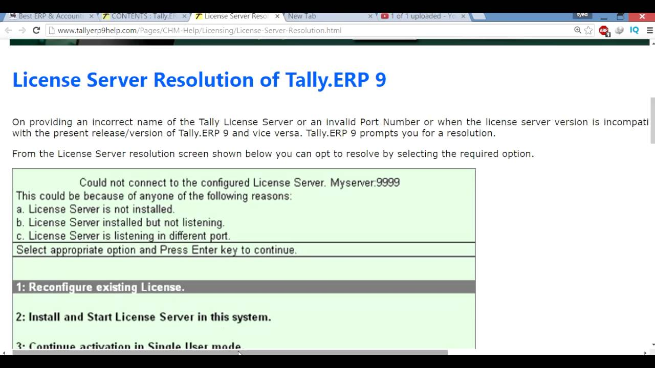 14 Tally ERP9 License Server Resolution