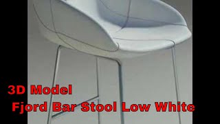 3d Model Fjord Bar Stool Low White