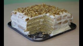 Торт ленивый СМЕТАННИК! Сметанник за 20 минут. Рецепт торта без выпечки!