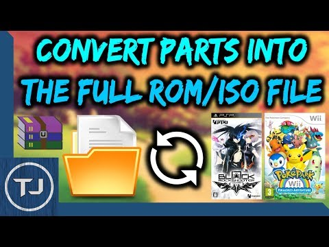How To Convert File Parts Into Full ROM/ISO! (PSP/PS Vita/Wii/3DS/Switch)