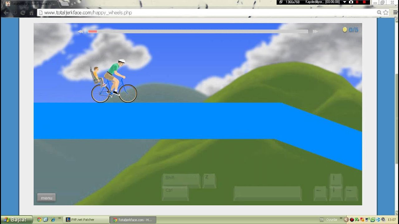 happy wheels total jerkface