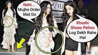 Khushi Kapoor Walks Without Shoes With Sister Jhanvi Kapoor On Road Outside Hakkasan Restaurant