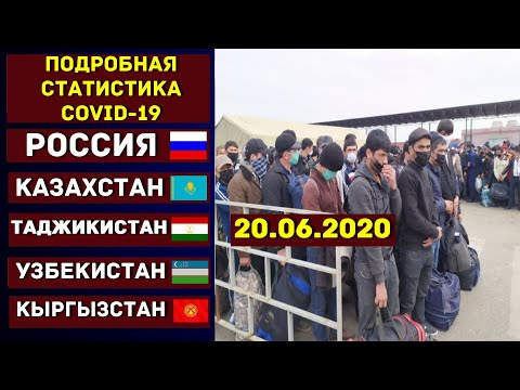 Подробная статистика Коронавирус в России Казахстане Узбекистане Таджикистане Киргизии 20.06.2020