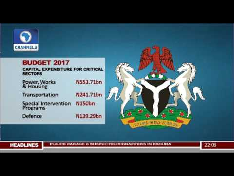 News@10: FG To Release N350bn For Capital Projects 19/06/17 Pt. 1