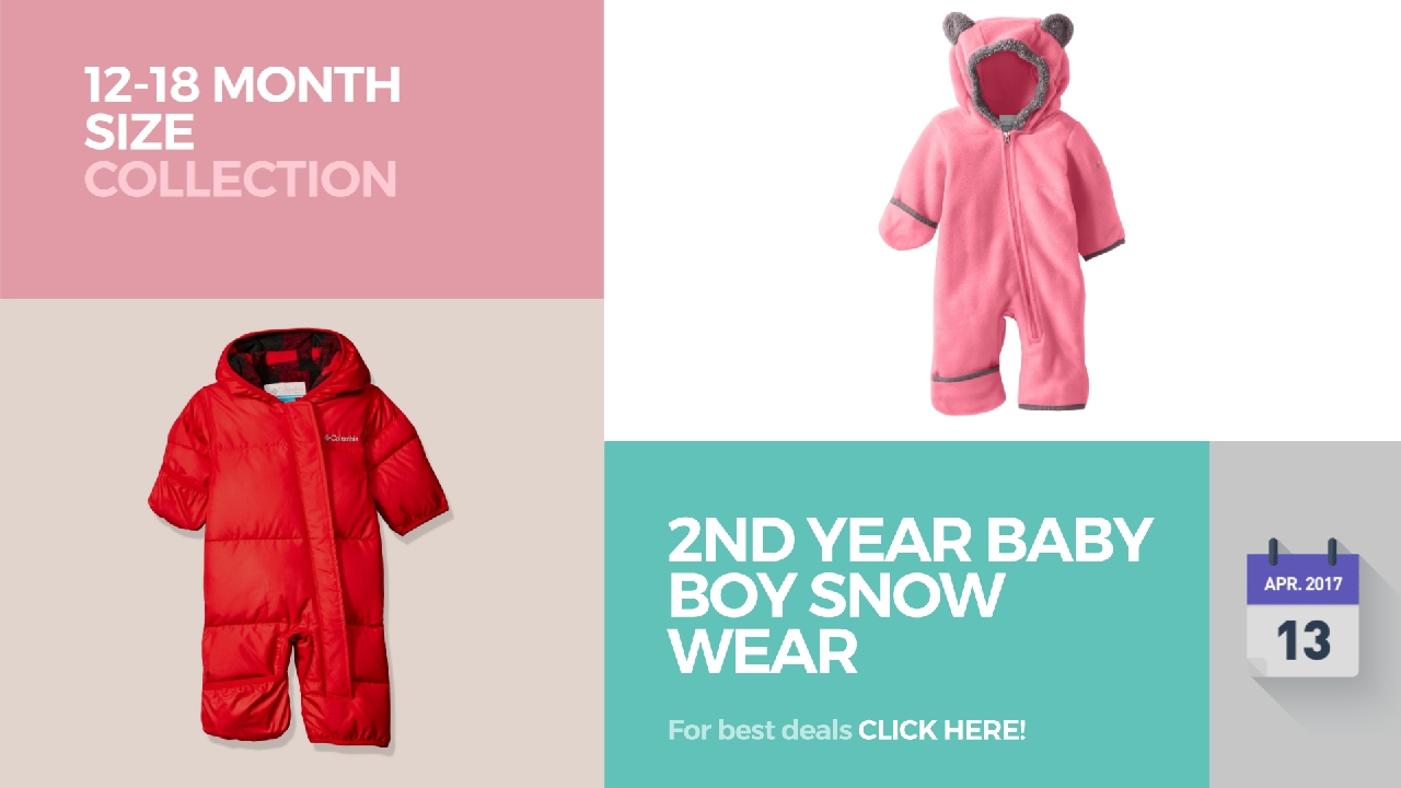 da246615a 2nd Year Baby Boy Snow Wear 12-18 Month Size Collection - YouTube