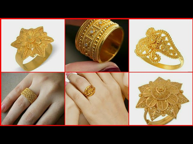 Latest Gold Finger Ring Design for Female |Latest Dailywear Gold Ring Design|Gold Finger Ring Design