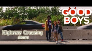 Highway Crossing Scene From *Good Boys (2019)*
