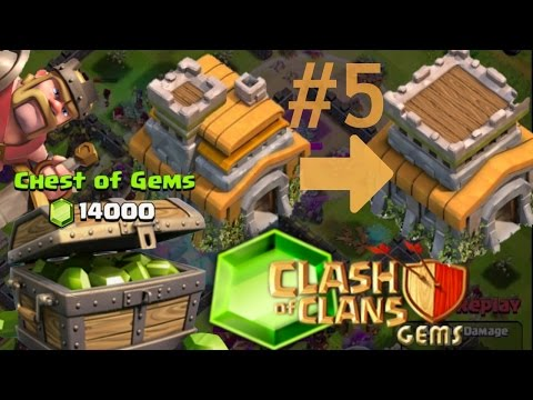 Clash Of Clans - 14,000+ Gems = 100% Maxed Town Hall - TONS OF UPGRADES!