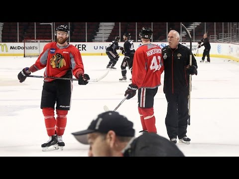 Joel Quenneville On Game 4 Lineup, And Taking A Spill