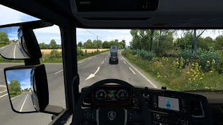 A trip from Civaux to Clermont on the ETS2 map using the Spring v4.0 mod.  https://grimesmods.wordpress.com/2017/05/17/spring-weather-mod/