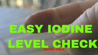 Iodine Level Quick Check From Home