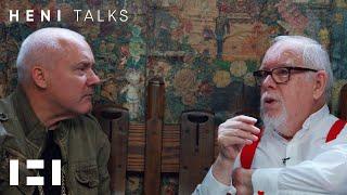 Damien Hirst visits Peter Blake's studio