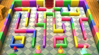 Mario Party 10 Minigames - Mario vs Peach vs Daisy vs Rosalina