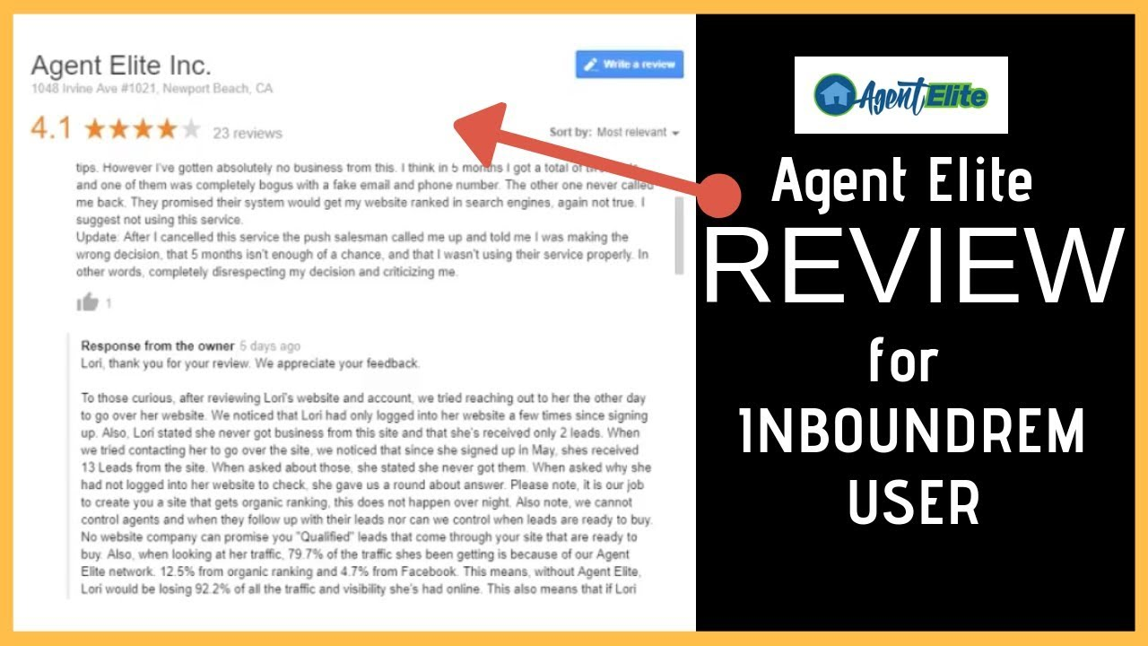 Agent Elite review for InboundREM User
