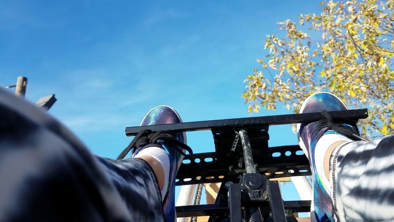 backyard homemade pvc rollercoaster daytime pov1 youtube