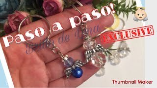 752386f3ede2 BISUTERIA FACIL- Llaveros recuerdo de primera comunion faciles