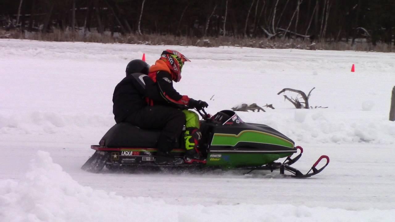 Two Person Snowmobile Race LAVSA Winter Event 2 6 16