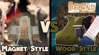 Magnet-Stil Vs Holz-Stil, die gewinnen soll? | NRPG Beyond - Roblox