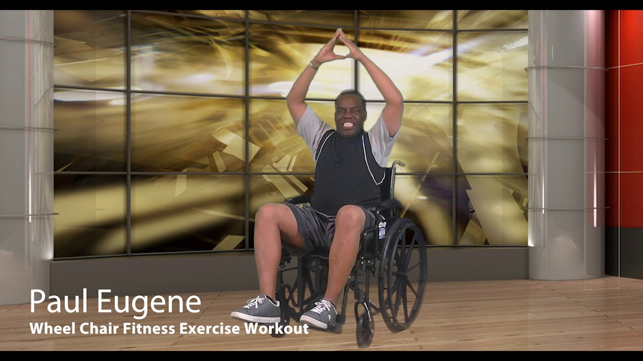 Wheel Chair Fitness Exercise Fat Burner Workout  YouTube