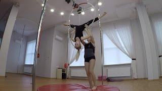 Воздушная гимнастика Воздушное кольцо Целая тренировка Barvina Sport