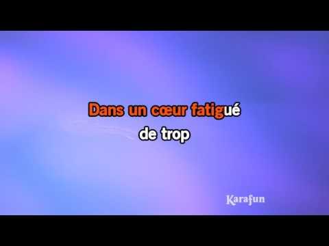Karaoké Les larmes des maux - Les Infidèles *