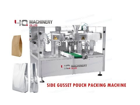 Side Gusset Pouch Packaging Machine 丨Quad Seal Bag Powder Packing Equipment