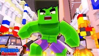 Minecraft: MENINO ARANHA - O HULK ENLOUQUECEU! #284