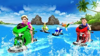 Real Water Surfer Bike Racing Game #Motor Cycle Games To Play #Bike Racing Games #Games For Kids