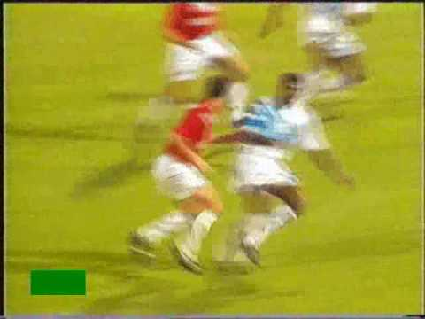 Zidane frappe Desailly (OM-Bordeaux 18/9/93)