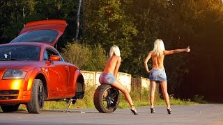 Автоприколы! Смешное на дороге! Дебилы, быдло АвтоАварии, ДТП      2017