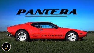 4K - DE Tomaso Pantera / Detomaso - Test drive in top gear - DeTomaso Ford V8 Engine sound