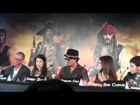Sam Claflin and Astrid Berges-Frisbey talk about being newcomers on Pirates of Caribbean