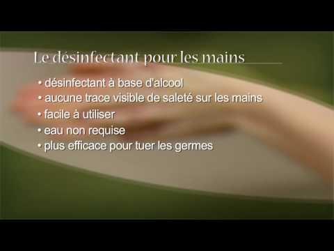 L'hygiène des mains - lavage des mains et désinfectants à base d'alcool pour les mains