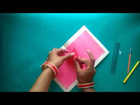 3 D Pop Up Birthday Greeting Card O DIY Cake Easy And Simple For Kid