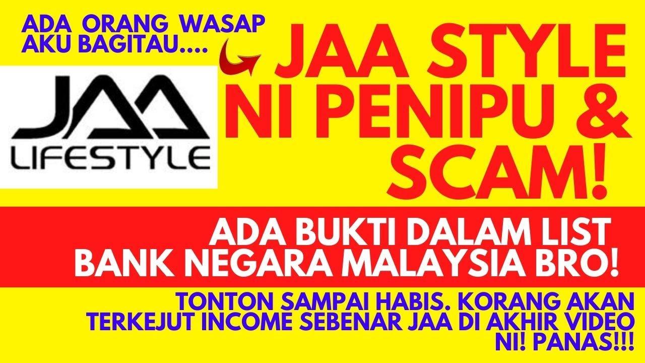Jaa Lifestyle Ni Scam Ada Dalam List Scammer Bank Negara Malaysia